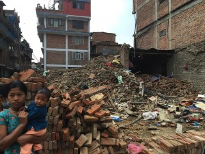 Bhaktapur Earthquake Site Child