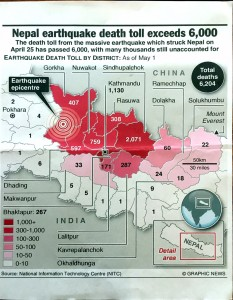 Nepal Earthquake Death Toll May 2015