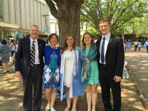 Shelby Miller UNC Graduation Family '16